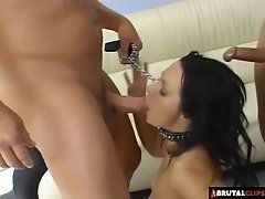 Bitch in heat wants a wild dp and lots of cum