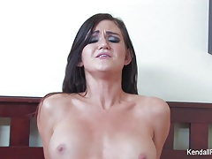 Busty brunette Kendall Karson cheats on her boyfriend