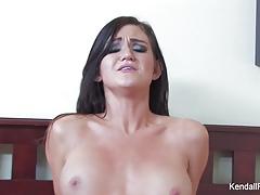Busty brunette Kendall Karson cheats on her boyfriend