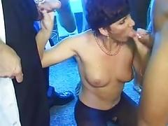 Big Hanging Tits Granny MILF Anal Gang Fucked Lactation