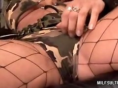 Stocking MILF Dishes out Her Pussy