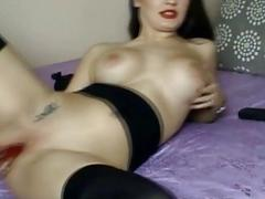Hot Busty Babe Get Strip and Masturbate on Cam