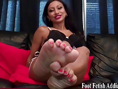 Suck my toes and pamper my soles