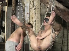 Videos of gays in bondage first time His taut boy twat