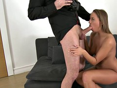 casting babe pussyfucked doggystyle by agent