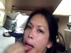 Over stroking huge black penis Oriental milf gets insane