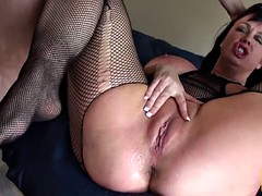 Busty brit bdsm dominated and squirts