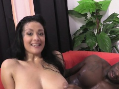 Katrina Jade Takes A Black Cock On A Massage Table