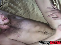 Jimmie Slater uses his huge dick to fuck Billy Warrens holes