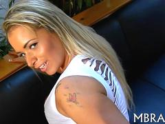 Busty Brazilian chick going on the ride of her life