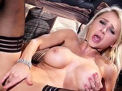 Sexy blonde Alix plays with her tight and wet pussy