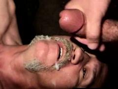 Redneck straight mature takes facial