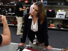 Busty business lady banged by pawnkeeper at the pawnshop