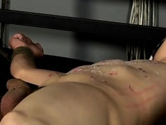 Gays bondage twinks hardcore Reece has a cum geyser in his m