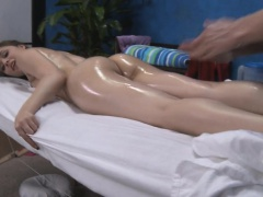 Gorgeous sweetheart gets a hard fuck after a fleshly massage