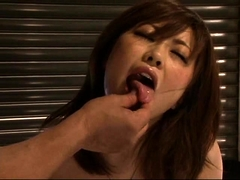 Busty Asian slut is made to cum with sex toys and hard dicks