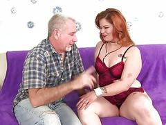 Fat Redhead Lilly Lust Sucks a Thick Cock and Then Gets Fucked