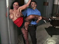 phoenix marie wearing stockings and high heels getting slammed standing up