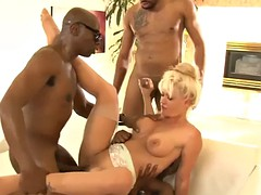 lavish blond holly heart dp by black dudes on the couch