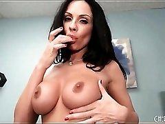 Busty Kirsten Price masturbates her pussy
