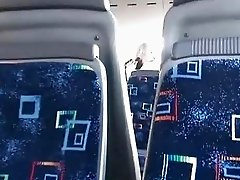 Guy films a couple having sex in the bus