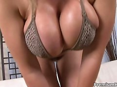 Big yummy butt babe Sara Jay getting sticked by long stiff black boner