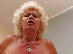 Ugly granny in hard POV action