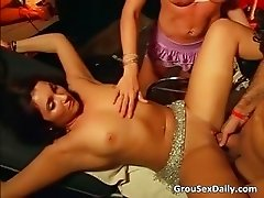 Unbelievable group gang bang party part1