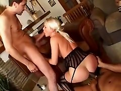 Two chicks get fucked hard