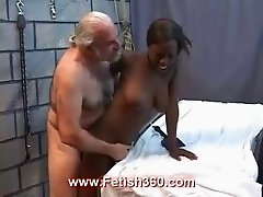 Naughty black girl gets pussy punishment